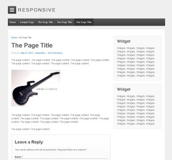 WordPress template example