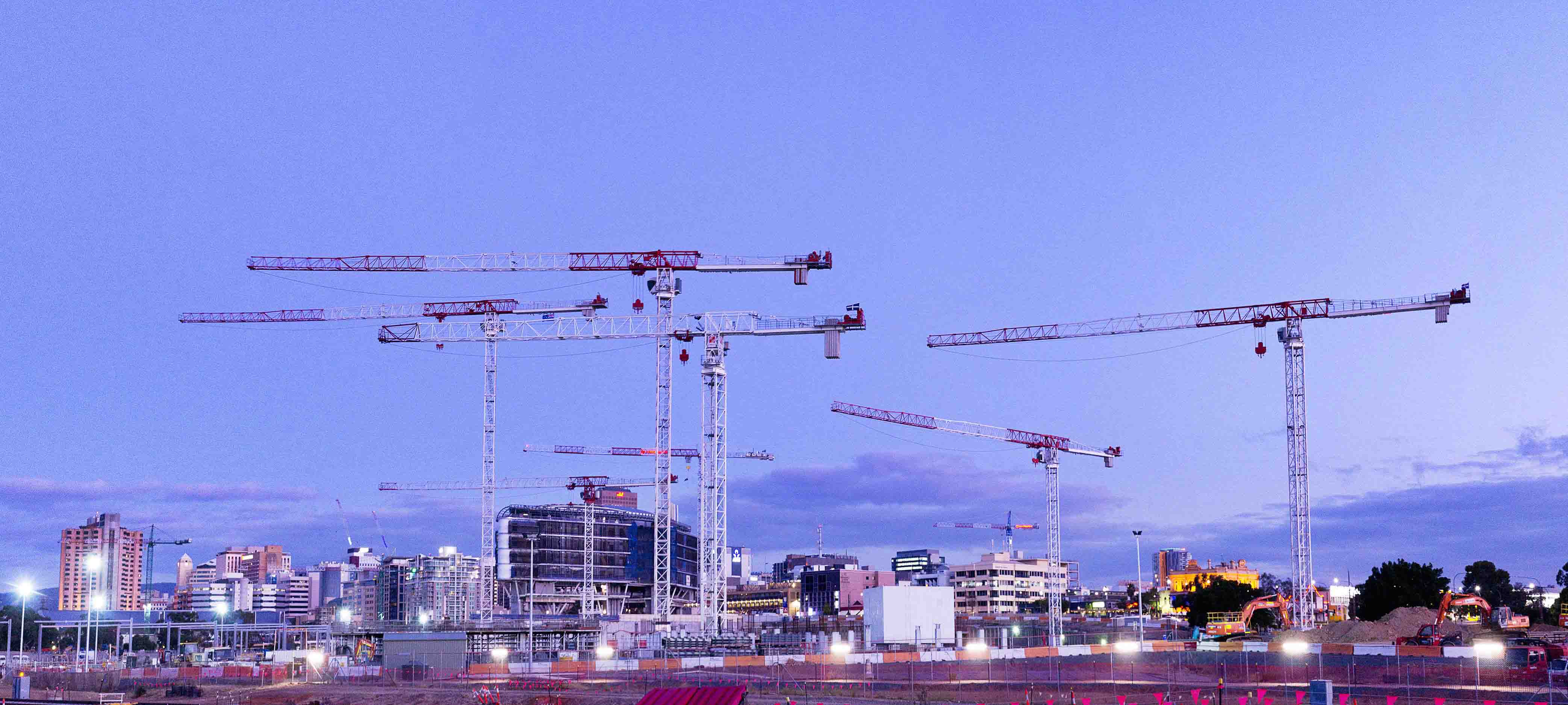 Royal Adelaide Hospital Support Cranes