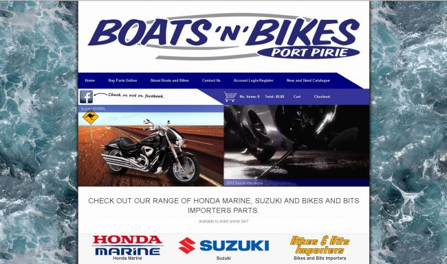 Boats Bikes Website Screenshot