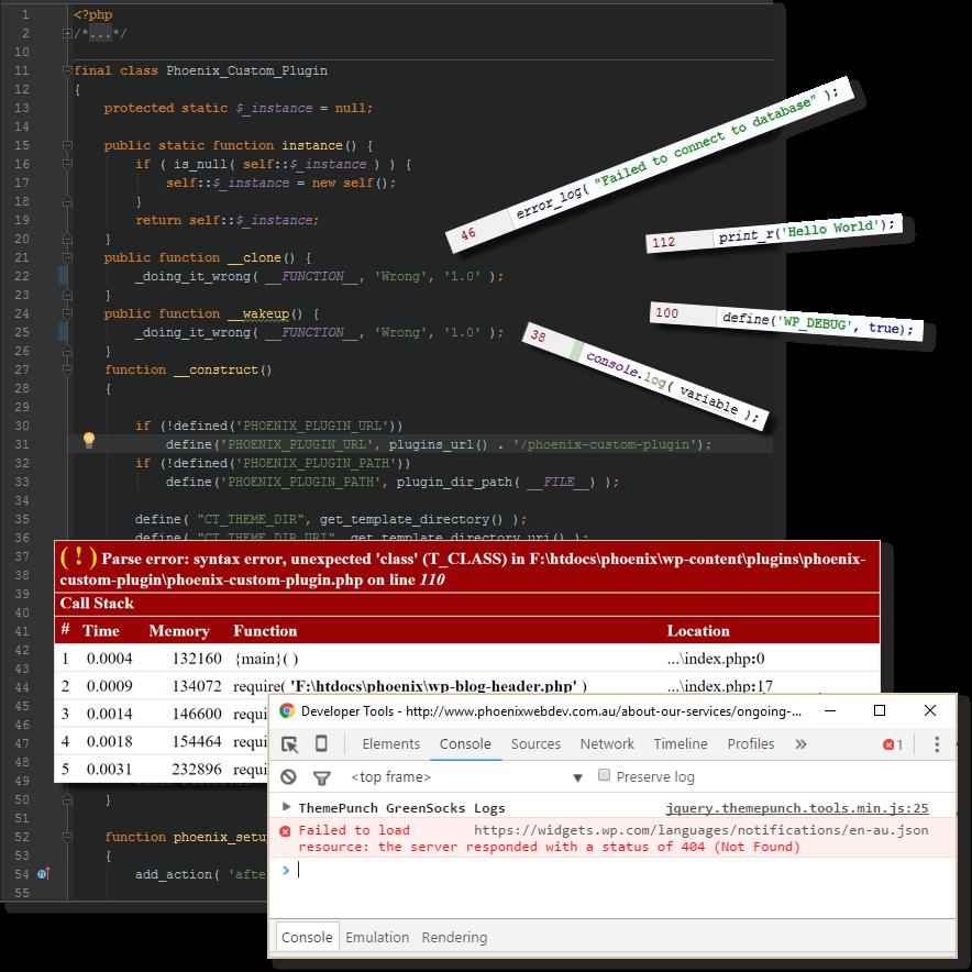 debug code snippets