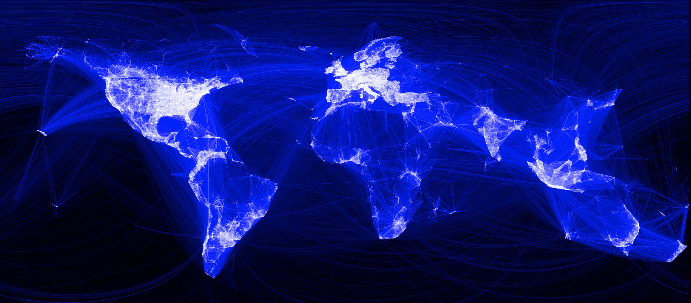 facebook relationships map showing links between the worldwide community