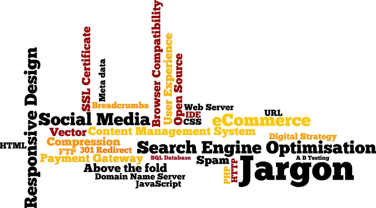 web technology jargon wordle cloud