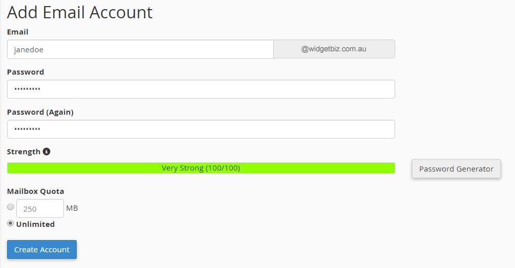 cpanel-add-email-account